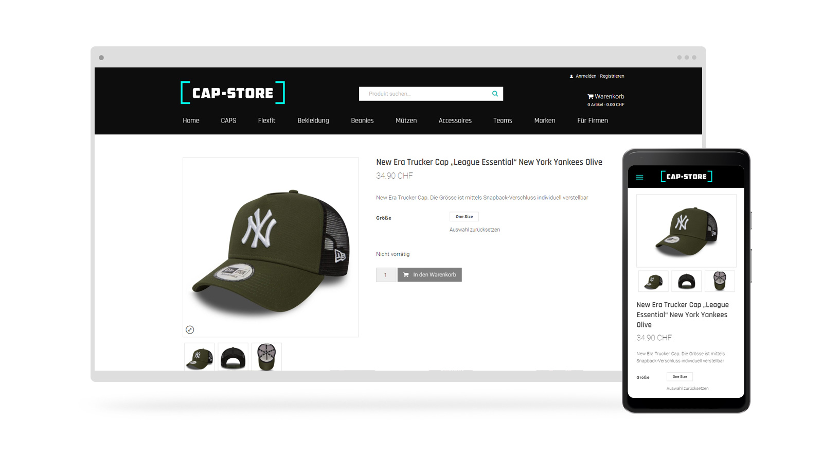 onlineshop mobile design