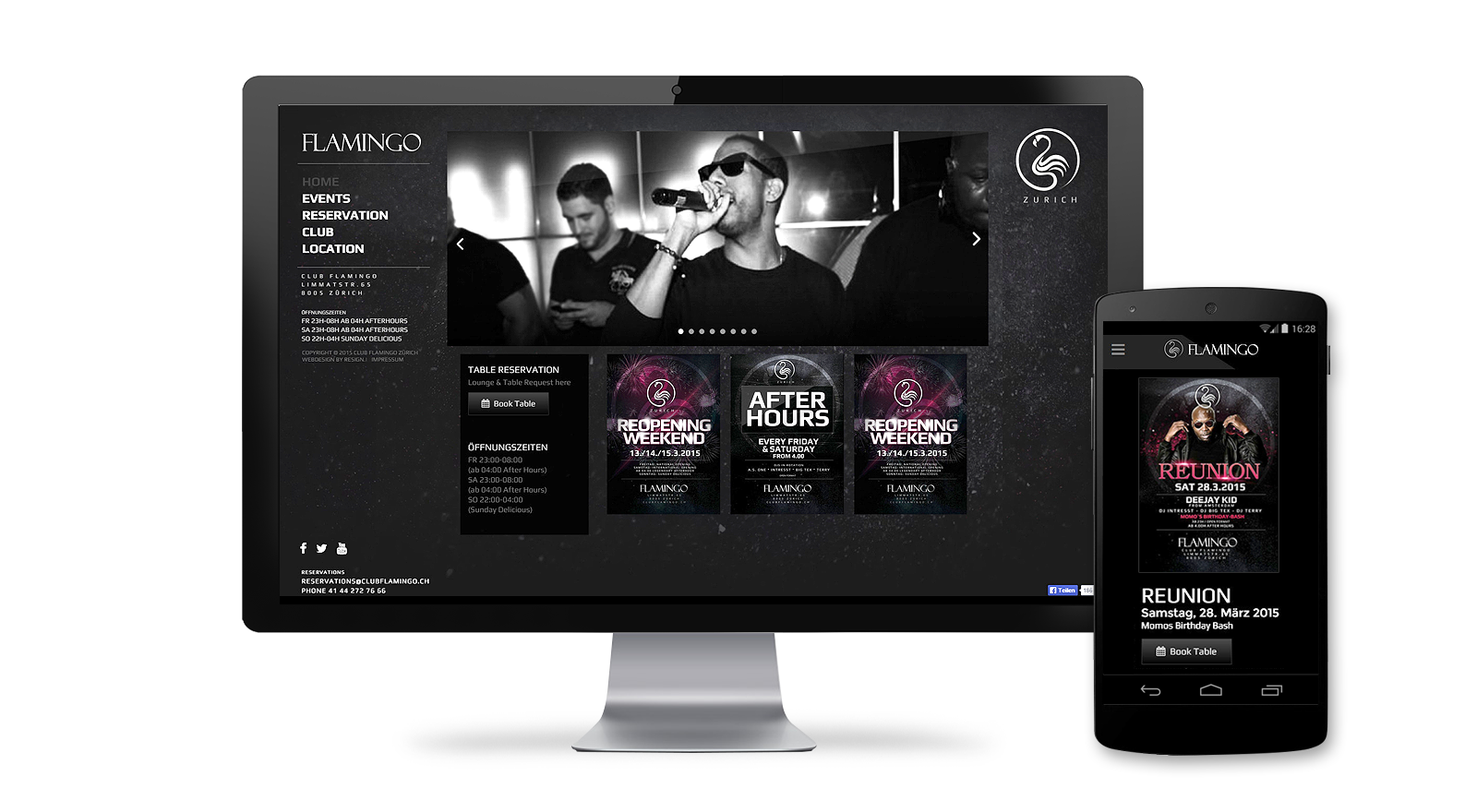 Club Webdesign Zurich
