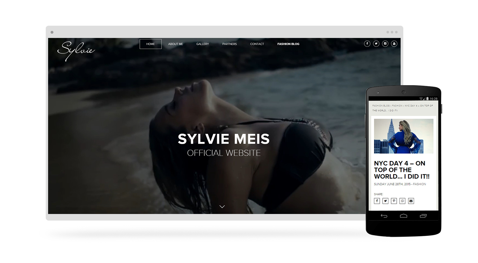 Sylvie Meis official Website - Webdesign by RESIGN