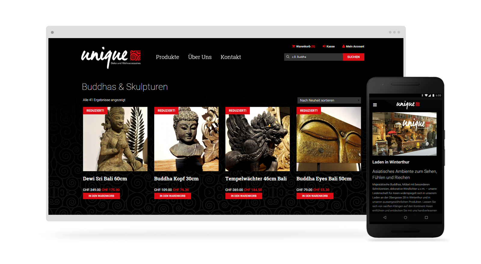 Online Shop Webdesign